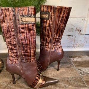 Sergio Zelcer Spanish Leather Brown Women's Boots